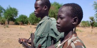 Child soldiers (file photo). Photo: Gabriel Galwak/IRIN