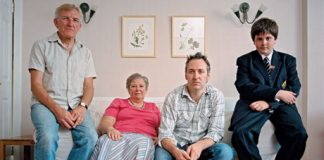 They're ridiculously supportive,' says Gareth Johnson, with parents Carl and Eunice, and nephew Seth. Photograph: Lucy Levene