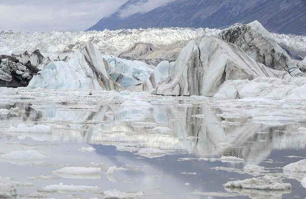 A general view of Lowell glacier in Kluane National Park near Haines Junction